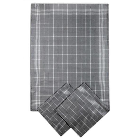 Set kuchyňských utěrek tmavě šedý