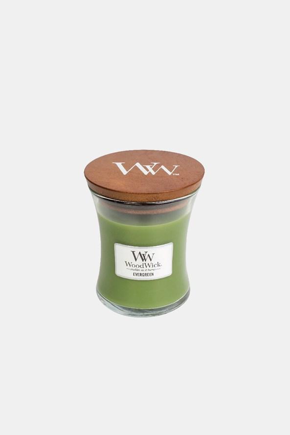 Svíčka WoodWick Evergreen střední