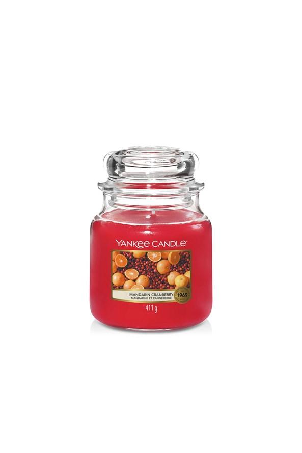 Svíčka Yankee Candle Mandarin Cranberry střední
