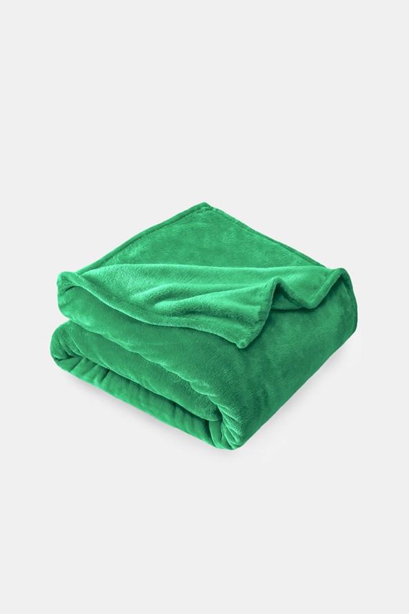 Mikroplyšová deka zelená