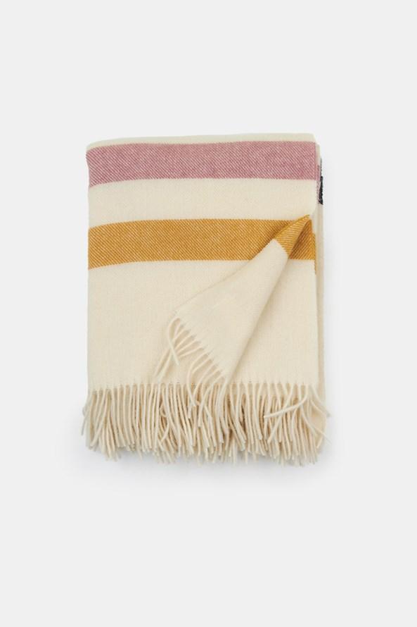Luxusní vlněná deka Stripe smetanová