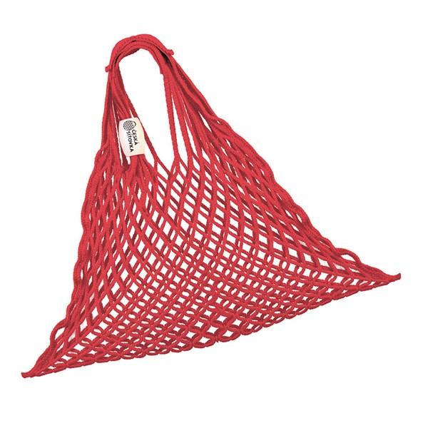 Piros rugalmas hálós táska