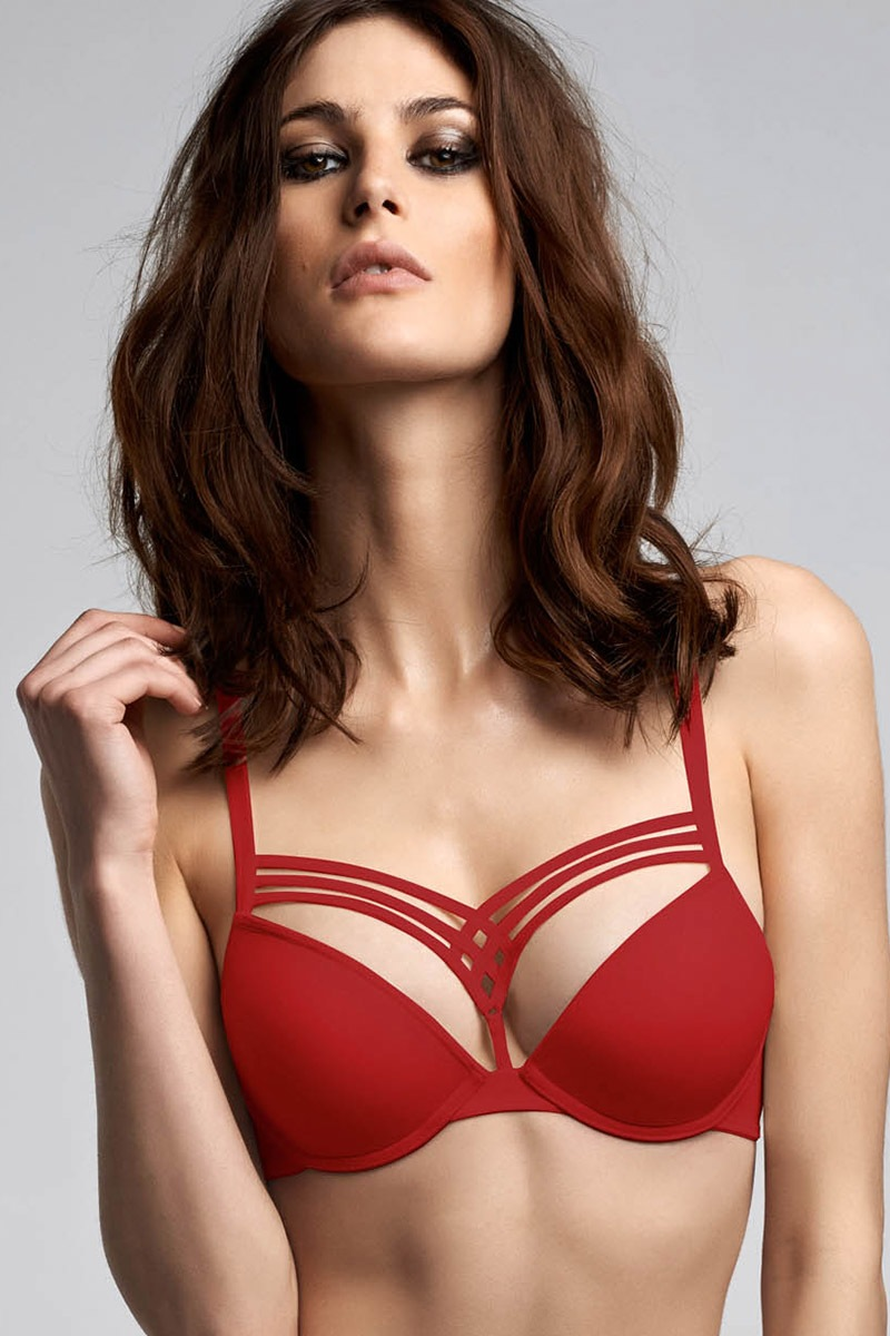 Podprsenka Marlies Dekkers Red Push-Up červená 65D