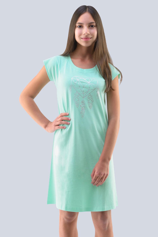 Dívčí noční košile Hearts peprmintová