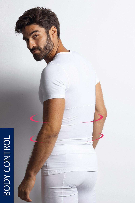 Blackspade Stahovací tričko s kulatým výstřihem PLUS SIZE bílá XXXL