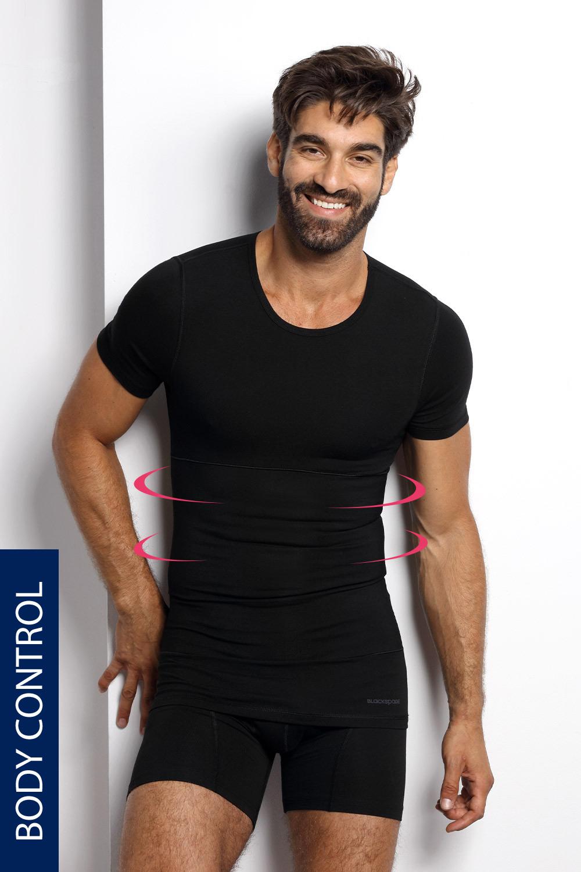 Blackspade Stahovací tričko s kulatým výstřihem PLUS SIZE černá 5XL