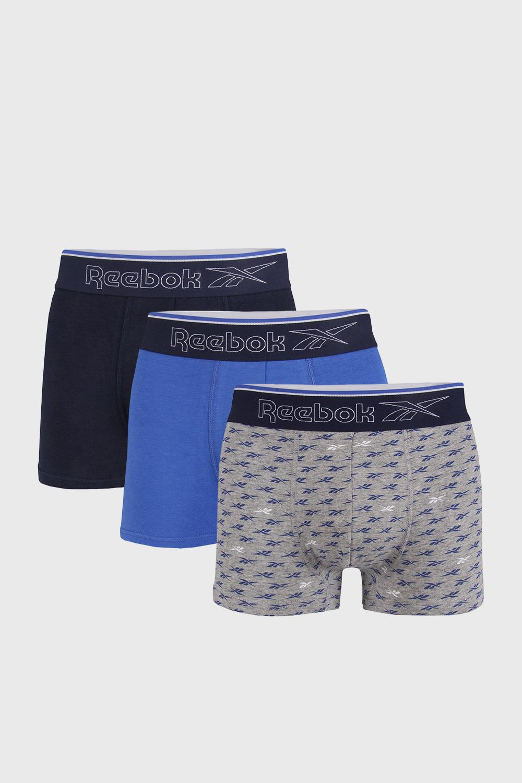Reebok 3 PACK modrý boxerek Reebok Corey modrá XL