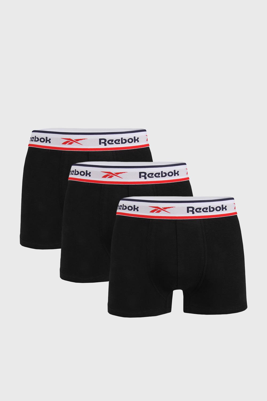 Reebok 3 PACK černých boxerek Reebok Jonath černá XL
