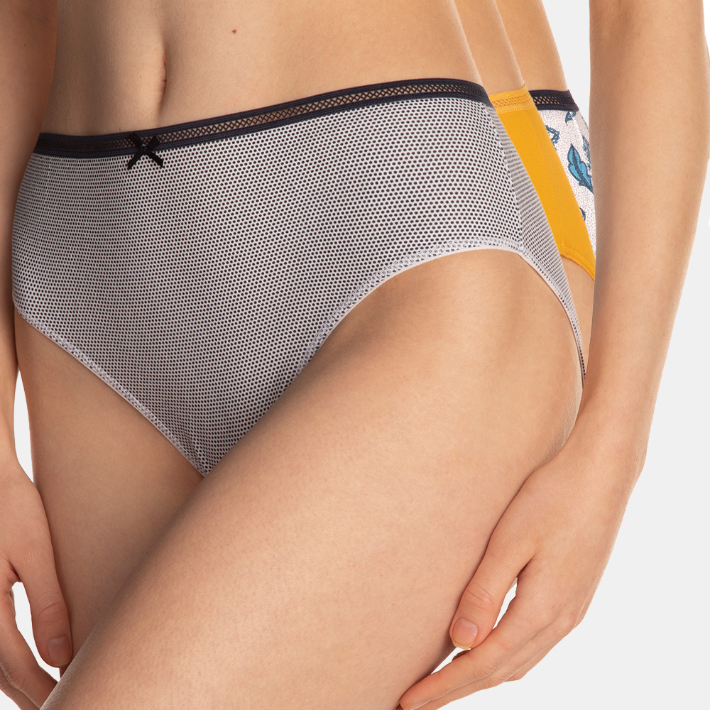 E-shop 3PACK klasických vyšších kalhotek Natalia