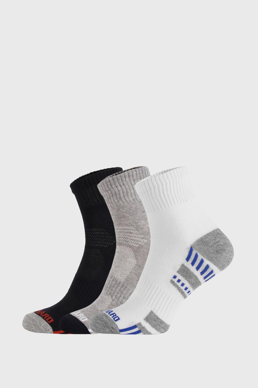 Ysabel Mora 3 PACK kotníkových ponožek Sportive barevná 41-46