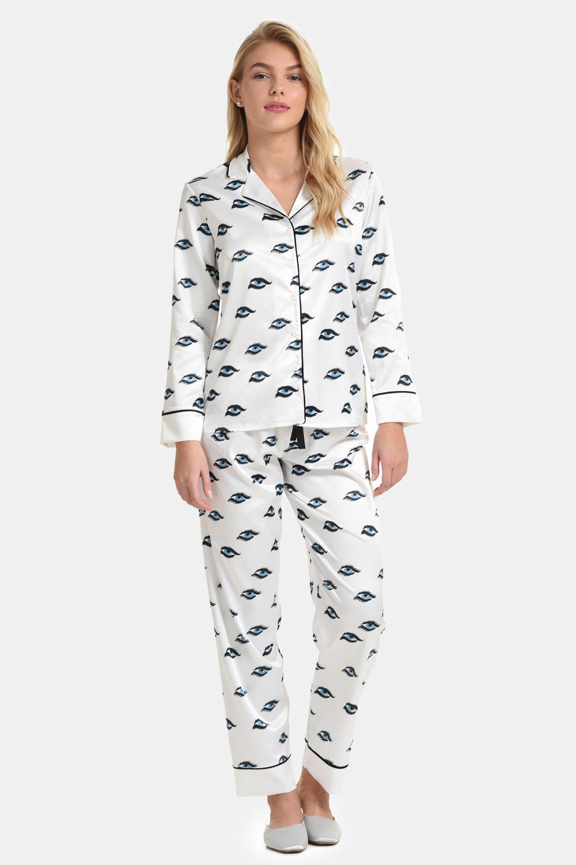 Saténové pyžamo Ojos