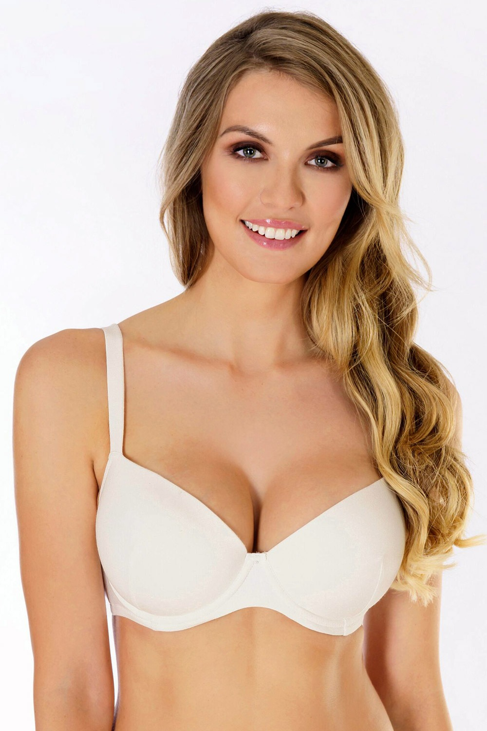 Podprsenka Soft Cotton Push-Up bavlněná ecru004 70B
