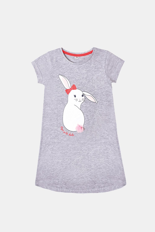 Dívčí noční košile Buny šedá
