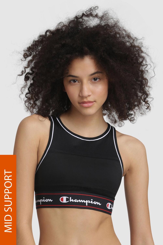 Biustonosz sportowy Champion Black