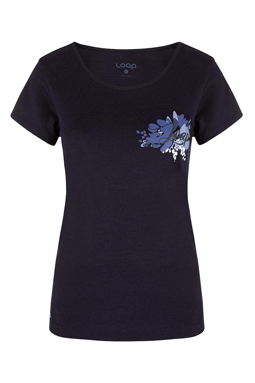 Niebieski damski T-shirt LOAP Astraia