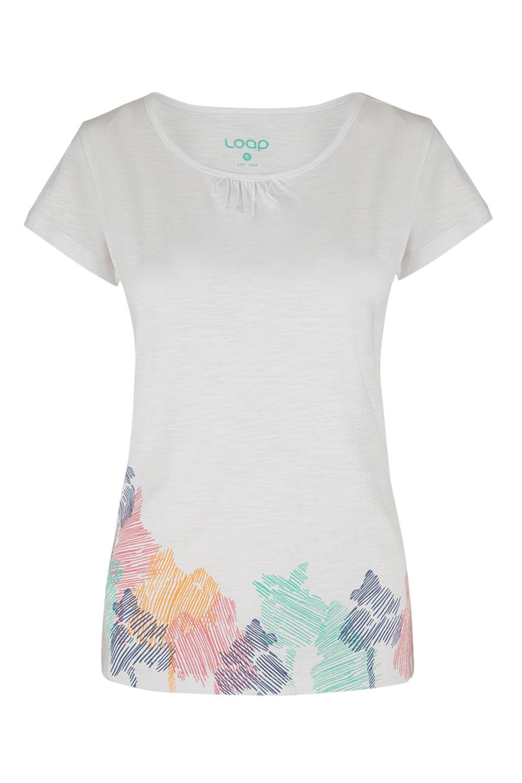 Biały damski T-shirt LOAP Blackie