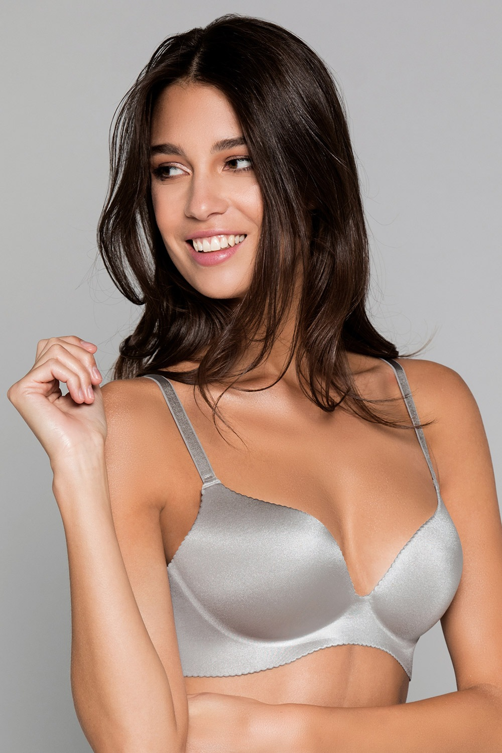 Podprsenka Arielle One piece bra Grey Push-Up