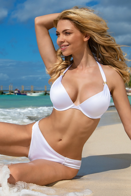 68b2e01ed Dámské dvoudílné plavky Jamaica II bílá 70C e-shop >>