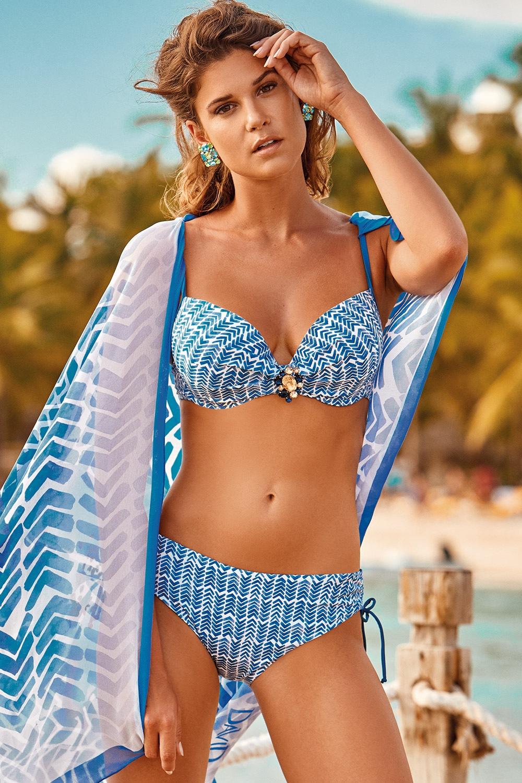 85e51d9c9 Dámské dvoudílné plavky Cristal modrobílá 40