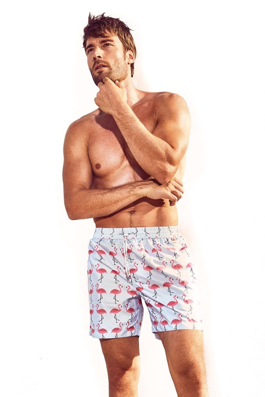Pánské plavkové šortky DAVID 52 Flamingo Caicco 0394680ddb