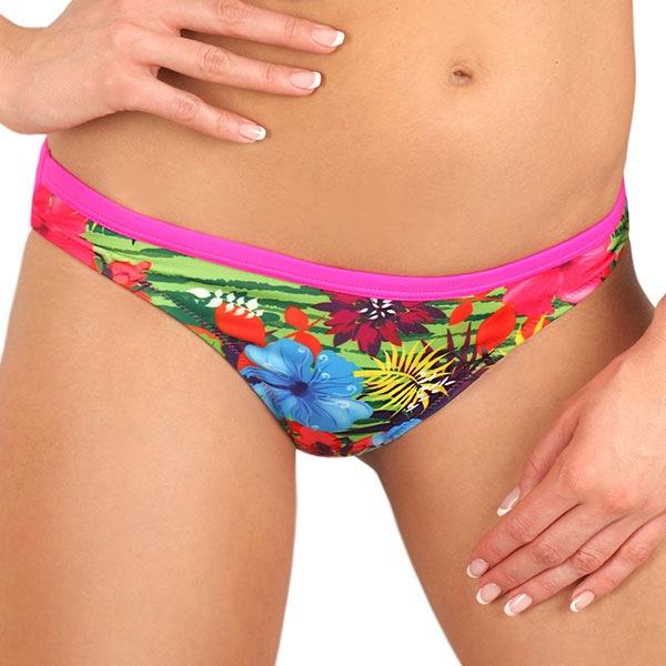 Figi od kostiumu kąpielowego Flowers Pink