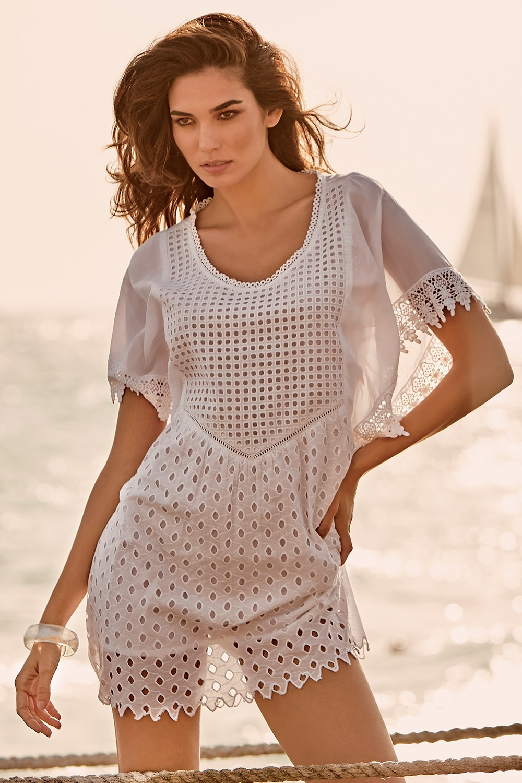 0e35d6119 Dámské plážové šaty Anna bílá M