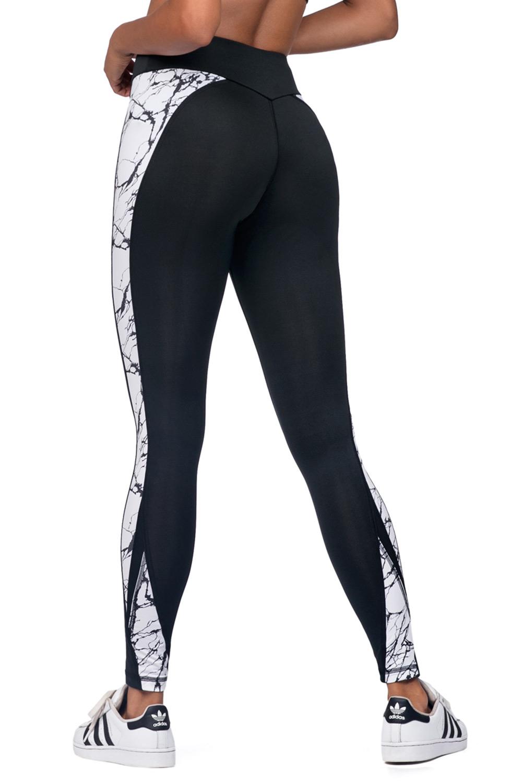 Czarne damskie legginsy sportowe Stone