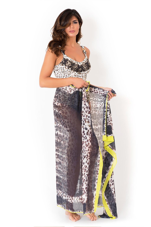 Plážový šátek/pareo italské značky Miradonna Africa 160x110cm