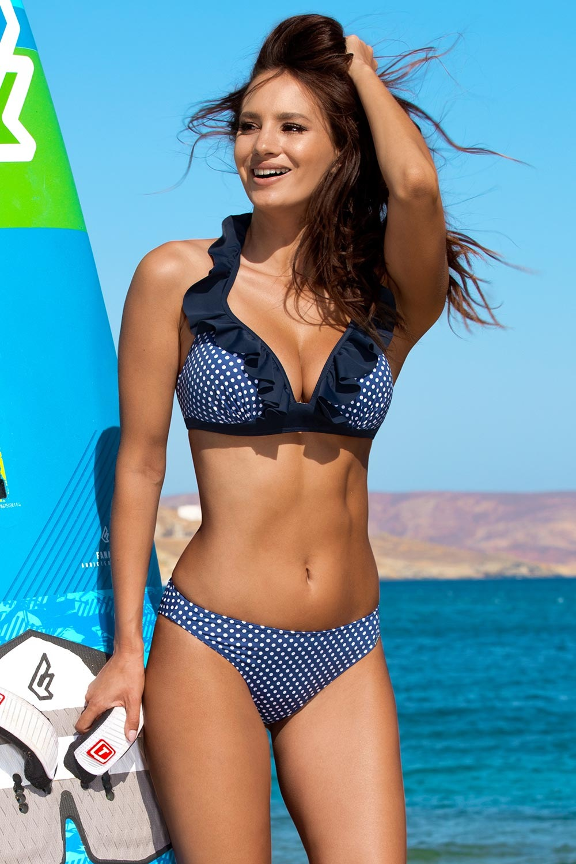 Madora Dámské dvoudílné plavky Mari Blue modrobílá 38