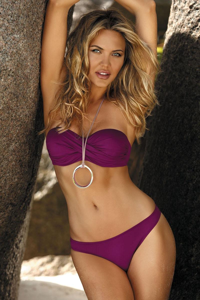 5d6bacc5f Dámské dvoudílné plavky Scarlet fialová 38 e-shop >>