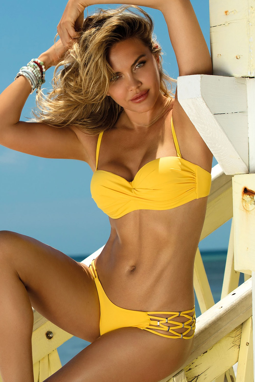 Etna Dámské dvoudílné plavky Sunny žlutá 38