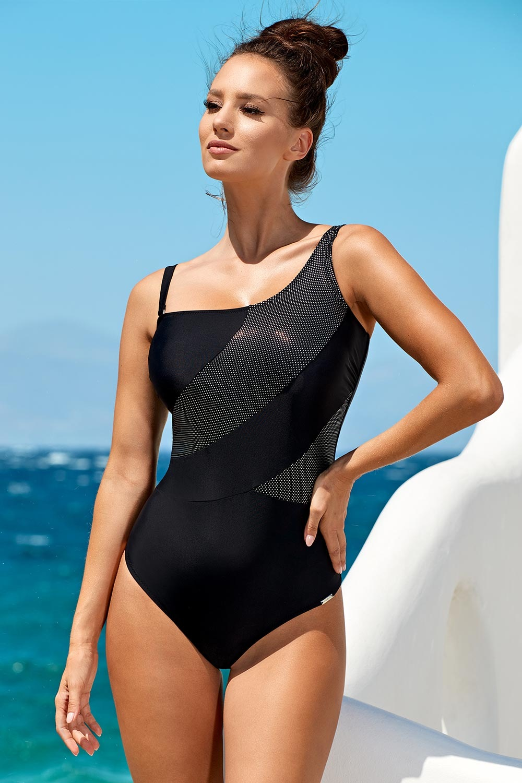Madora Dámské jednodílné plavky Naomi Black černá 36