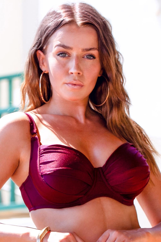 Volin Horní díl dámských plavek Chloe Grape bordó 95/F