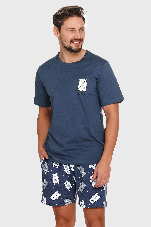 Doctor Nap Modré pyžamo Polar bear modrá XL