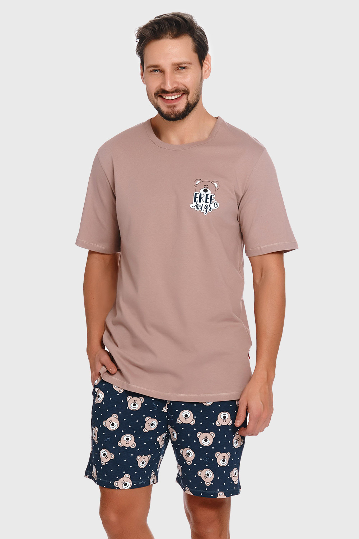 Doctor Nap Béžovomodré pyžamo Bear béžovomodrá S