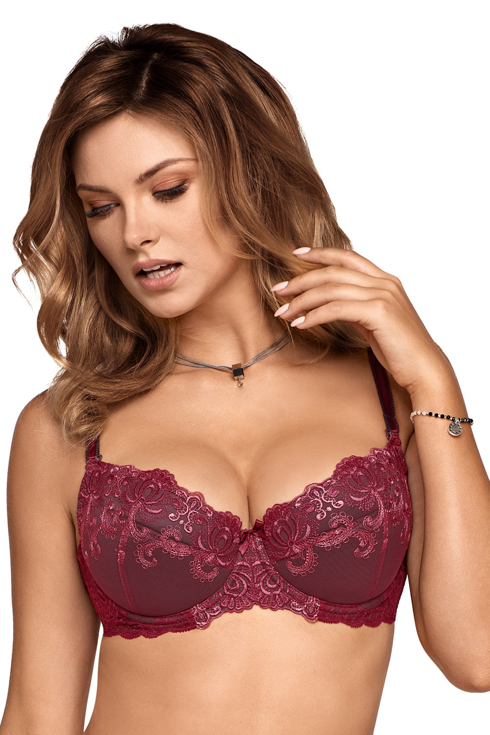 Podprsenka Rianna Push-Up bordo 65D