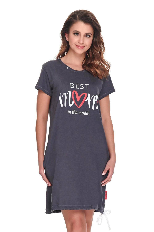 Koszula nocna dla karmiących Best Mom szara