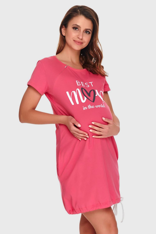 Koszula nocna dla karmiących Best Mom pink