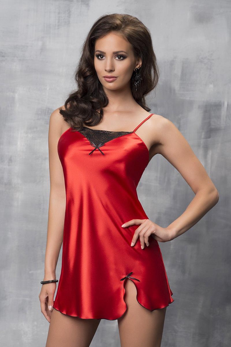 Luxusní saténová košilka Tare Red