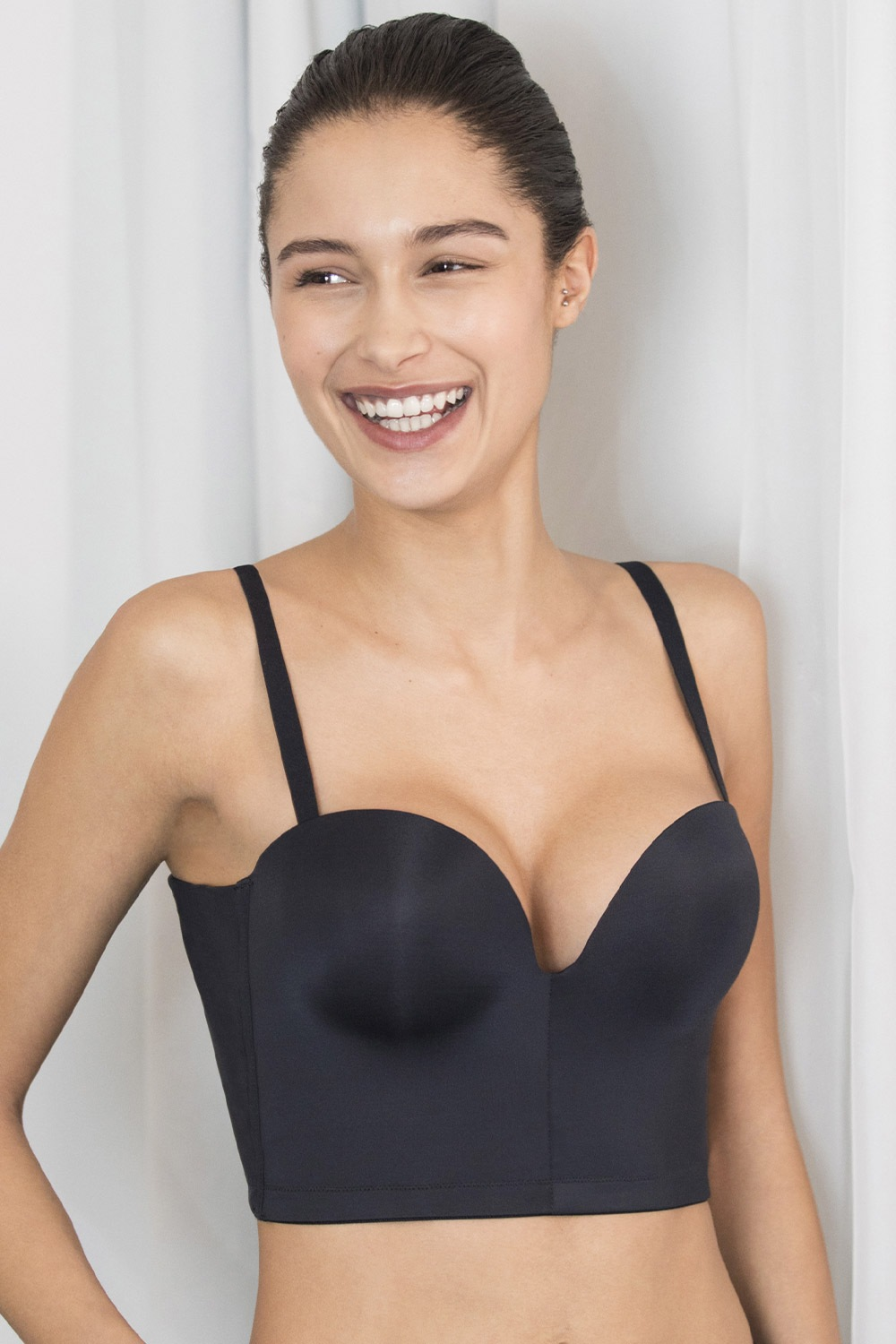Biustonosz Wonderbra Ultimate Backless Push-Up Black