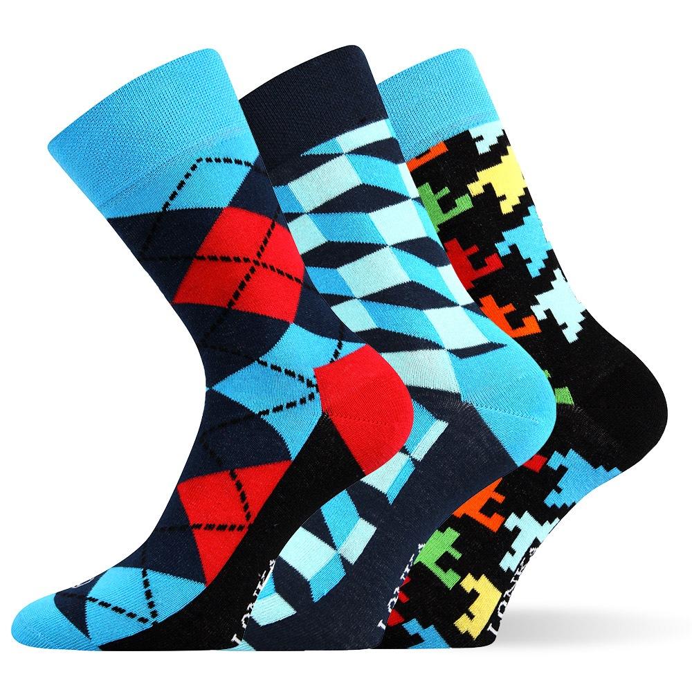 3pack módních ponožek Woodoo MixB