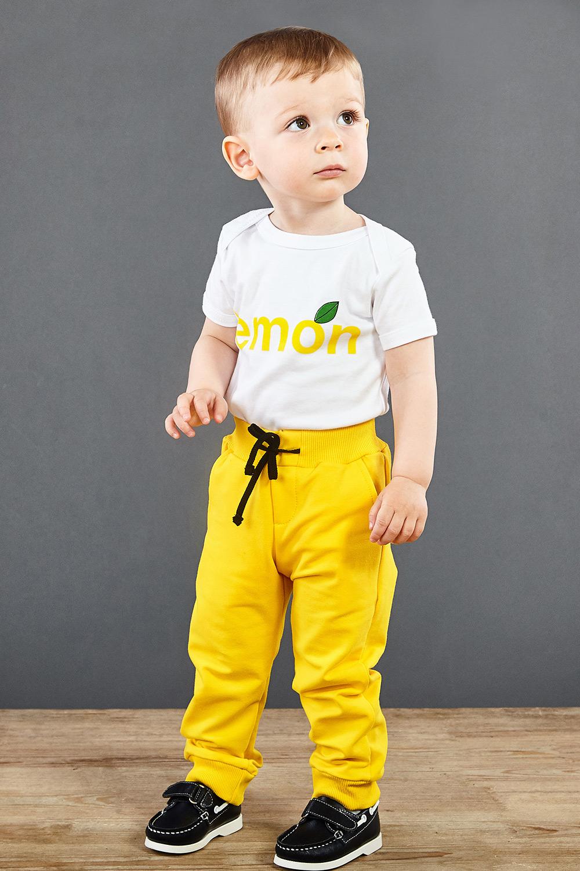 Dětské tepláky žluté